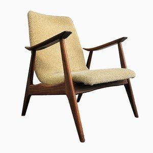 Niedriger Armlehnstuhl aus Teak von Louis van Teeffelen für WéBé, 1950er