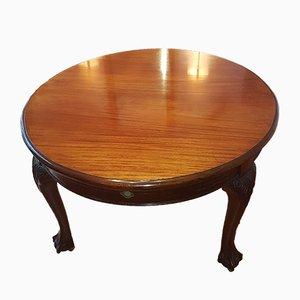 Mesa de comedor antigua ovalada de caoba