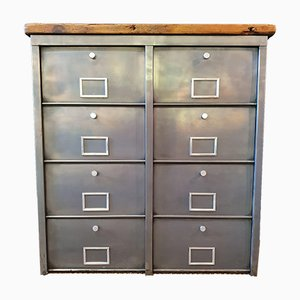 Vintage Industrial Metal Filing Cabinet from Roneo, 1960s