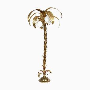 Hollywood Regency Palm Tree Floor Lamp, 1970s
