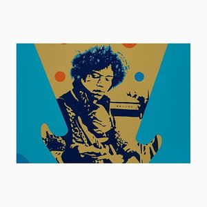Jimi Hendrix Lithograph by Ivan Messac, 2012