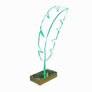 Light Green Oak Leaf LED Floor Lamp from OfficinadiRicerca, 2000s