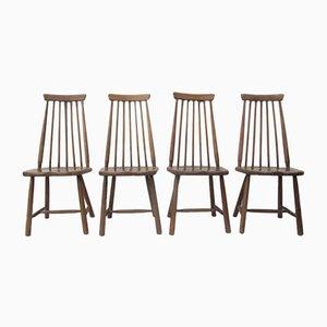 Hochlehner aus Holz von Pastoe, 1960er, 4er Set