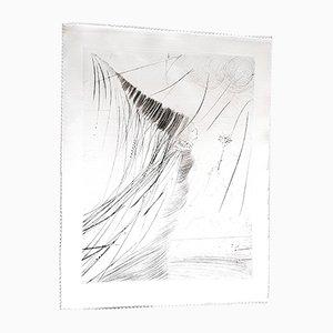 Acquaforte su seta The Fairy di Salvador Dali, 1968