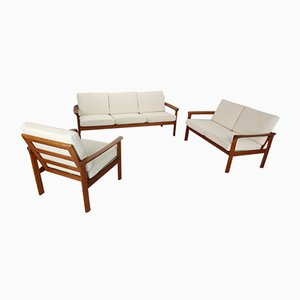 Danish Borneo Living Room Set by Sven Ellekaer for Komfort, 1960s