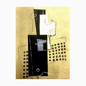 Affiche Pochoir Cubisme par Georges Braque, 1956