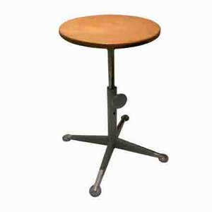 Vintage Industrial School Stool by Friso Kramer for Ahrend De Cirkel, 1960s