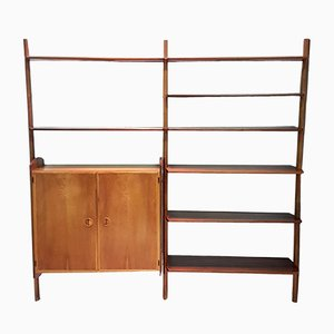 Danish Teak Wall Unit by William Watting for Scanflex, 1950s