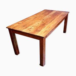 Mesa de comedor vintage de pino