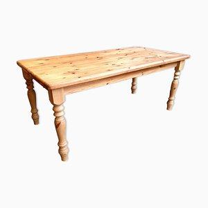 Mesa de granja vintage grande de pino