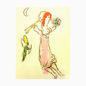 Daphnis and Chloé Lithograph by Marc Chagall, 1960s