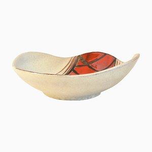 Deutsche Vintage Keramikschale von Heinz Siery für Scheurich, 1960er