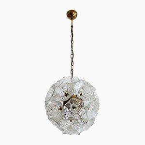 Lámpara de araña Sputnik Mid-Century de cristal de Murano de Venini, años 60