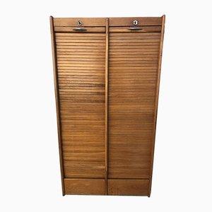 Vintage Oak Roller Shutter Cabinet, 1950s