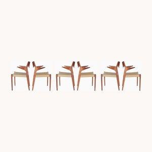 Chaises de Salle à Manger Modèle 55 et Modèle 71 Vintage en Teck par Niels Otto Møller, 1960s, Set de 6