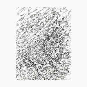 Beach Lithograph by Henri Michaux, 1956