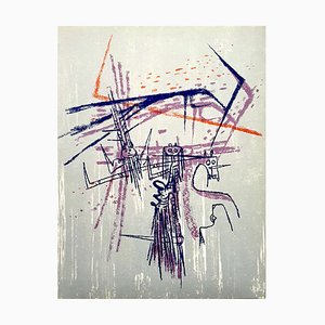 Knight Lithografie von Wifredo Lam, 1963