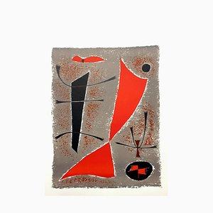 Abstract Fish Lithografie von Gustave Singier, 1955