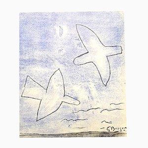 Birds Pochoir-Druck von Georges Braque, 1958