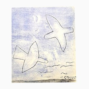 Birds Pochoir Print by Georges Braque, 1958