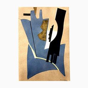 Composition Pochoir-Druck von Alberto Magnelli, 1956