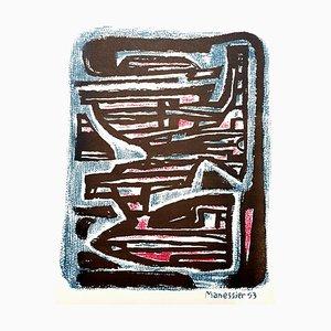 Maze Lithografie von Alfred Manessier, 1954