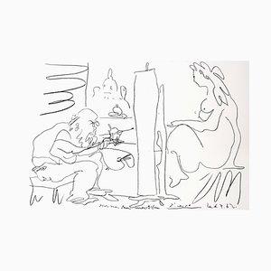 Lithographie Le Peintre et son Modèle par Pablo Picasso, 1962