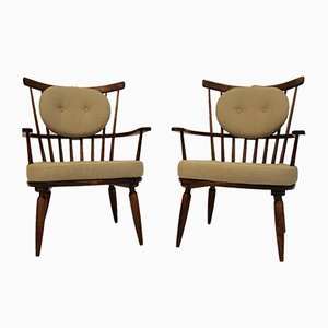 Lounge Chairs by Franz Schuster for Wiesner-Hager, 1950s, Set of 2