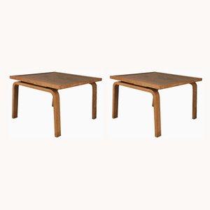 Saint Catherines Beistelltische aus Eiche von Arne Jacobsen, 1960er, 2er Set