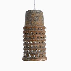 Lámpara colgante escandinava Mid-Century de cerámica