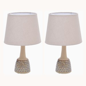 Vintage Stoneware Model 3014 Table Lamps by Einar Johansen for Søholm, 1960s, Set of 2