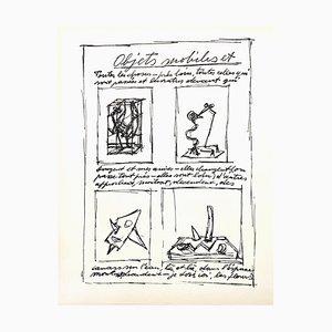 Lithografie von Alberto Giacometti, 1952