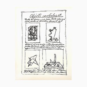 Lithograph by Alberto Giacometti, 1952