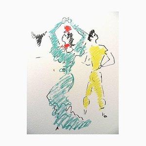 Lithographie The Flamenco Dancer par Jean Cocteau, 1961