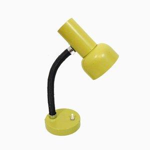 Lámpara de escritorio vintage amarilla, años 70