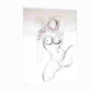 Nude Radierung auf Seide von Salvador Dali, 1968
