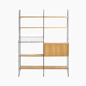Ash Wall Unit by Strinning, Kajsa & Nils for String, 1960s