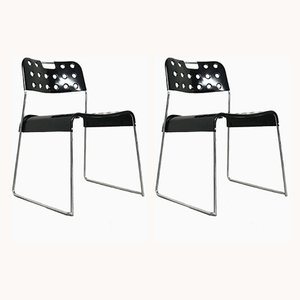 Omstak Dining Chairs by Rodney Kinsman for Bieffeplast, 1970s, Set of 2