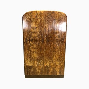 French Art Deco Walnut Wardrobe, 1930s