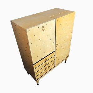 Mueble bar vintage de pergamino de Aldo Tura, años 60