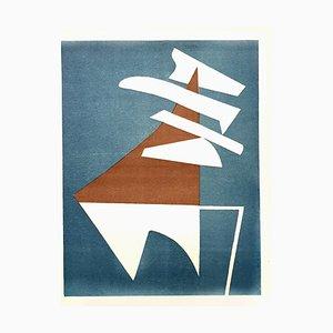 Composition Lithografie von Alberto Magnelli, 1951