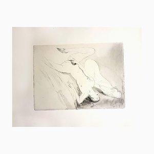 Women's Love Etching by Jean-Gabriel Domergue, 1924