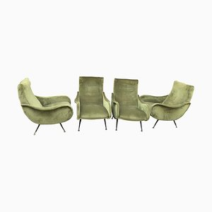 Italian Lounge Chairs by Marco Zanuso, 1960s, Set of 2