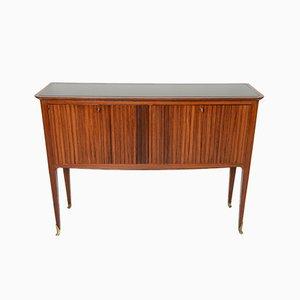 Mid-Century Italin Rosewood & Brass Sideboard, 1950s