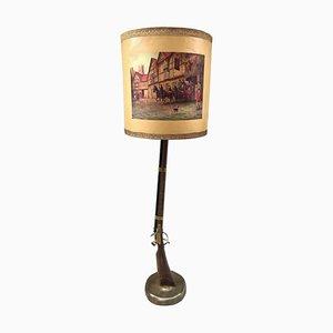 Lámpara de pie rifle, años 50