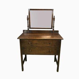 Englische Vintage Frisierkommode aus Eiche