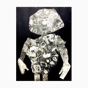Impresión de Estarcido de un hombre de Jean Dubuffet, 1956