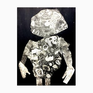 Man Pochoir Print by Jean Dubuffet, 1956