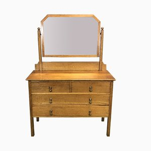 Blonde Oak Dressing Table, 1930s