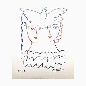 Woman and Dove Lithografie von Pablo Picasso, 1956